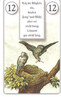 12 die vögel ach die vöglein die deuten sorg und müh aber sei nicht